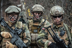 Norwegian Armed Forces soldiers Stock Photo