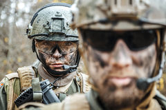 Norwegian Armed Forces soldiers Royalty Free Stock Images