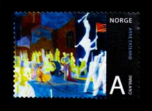 Norwegian Art by Arne Ekeland, Art serie, circa 2008. MOSCOW, RUSSIA - MARCH 18, 2018: A stamp printed in Norway shows Norwegian Art by Arne Ekeland, Art serie Royalty Free Stock Images