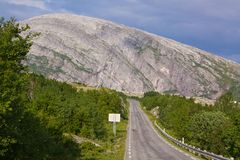 Norwegian Atlantic Tourist Road. Picturesque scenery on the Norwegian National Tourist Road Royalty Free Stock Photography