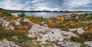 Norwegian autumn landscape Stock Image