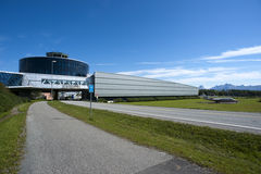 Norwegian aviation museum entrance Stock Photography