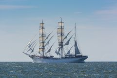 Norwegian barque Statsraad Lehmkuhl under sail Royalty Free Stock Photo