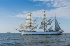 Norwegian barque Statsraad Lehmkuhl under sail Stock Photography