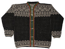 Norwegian Black Sweater. A traditional Norwegian black sweater with folded arms Royalty Free Stock Image