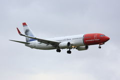 Norwegian Boeing 737 Royalty Free Stock Images