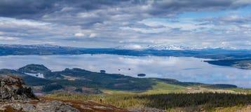 Norwegian border. From the Swedish side Stock Photo