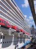 Norwegian Breakaway. BERMUDA - SEPTEMBER 8: Norwegian Breakaway, NCL's newest and largest cruise ship, as seen on September 8, 2013 in New York. It is the Royalty Free Stock Photos