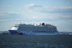 Norwegian Breakaway Cruise Ship leaving New York Stock Image