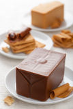 Norwegian brunost cheese Royalty Free Stock Images
