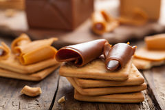 Norwegian brunost cheese Royalty Free Stock Image