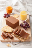 Norwegian brunost cheese Royalty Free Stock Photo