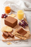 Norwegian brunost cheese Royalty Free Stock Photos