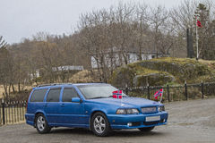 Norwegian car. On May 17, the Norwegian National confess many residents flag Royalty Free Stock Image