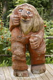 Norwegian carved wooden troll. Scandinavian folklore. Norway. Royalty Free Stock Images