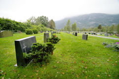 Norwegian cemetery Royalty Free Stock Image
