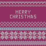 Norwegian, Christmas and winter seamless patterns - congratulation Royalty Free Stock Photos