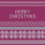 Norwegian, Christmas and winter seamless patterns - congratulation. Illustration Royalty Free Stock Photos