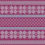 Norwegian, Christmas and winter seamless patterns. Illustration Royalty Free Stock Images