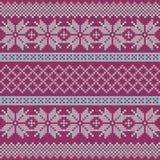 Norwegian, Christmas and winter seamless patterns. Illustration stock illustration
