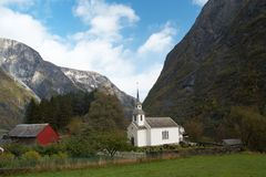 Norwegian church Stock Photography