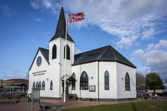 Norwegian Church in Cardiff Bay Royalty Free Stock Photos