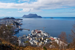 Norwegian city Royalty Free Stock Photography