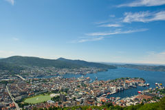Norwegian city of Bergen. Royalty Free Stock Photography