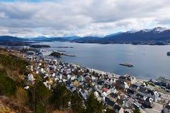 Norwegian city Stock Image