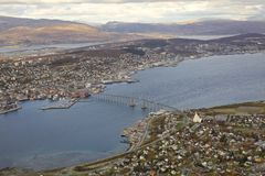 Norwegian city Tromso Royalty Free Stock Photography