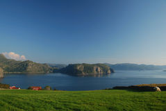 Norwegian coast. Idyllic landscape in Western Norway Stock Photo