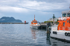 Norwegian Coastal Administration ships Royalty Free Stock Images