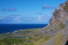 Norwegian coastal cliffs Royalty Free Stock Photos