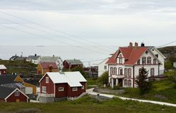 Norwegian coastal village Royalty Free Stock Images