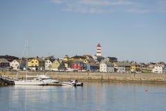 Norwegian coastal village Stock Photo