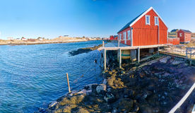 Norwegian coastline and waters with little underwater reefs Royalty Free Stock Photography