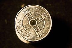 Norwegian coins stack 3 stock image