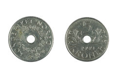 Norwegian coins Royalty Free Stock Images