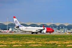 Norwegian.Com Aircraft In Christian Krobg Livery Stock Image