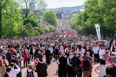 Norwegian Constitution Day on Karl Johan street Royalty Free Stock Images