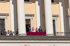Norwegian Constitution Day royal family greet people Stock Photography