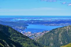 Norwegian Countryside. Beautiful countryside from Norway's west coast, close to the city of Bergen Stock Photo