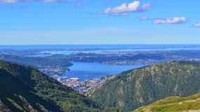 Norwegian Countryside. Beautiful countryside from Norway's west coast, close to the city of Bergen Royalty Free Stock Images