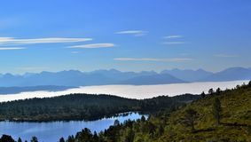 Norwegian Countryside. Beautiful countryside from Norway's west coast, close to the town of Molde Stock Photography