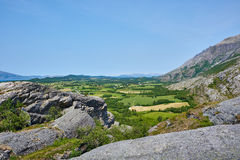 Norwegian countryside. Countryside in Norway with mountain views Stock Images