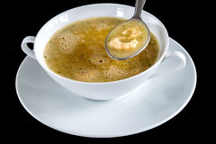 Norwegian crab soup Royalty Free Stock Photo