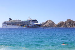 NORWEGIAN CRUISE SHIP AT CABO Stock Images