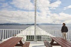 Norwegian cruise traveler. Fjord landscape. Holiday outdoor Norw. Norwegian cruise traveler. Fjord landscape. Summer holiday outdoor. Norway stock photography