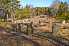 Norwegian cultural heritage, Hunn graveyard Royalty Free Stock Photo