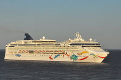 Norwegian Dawn. Cruise Ship. It entered service in 2002 and is in operation with Norwegian Cruise Line Stock Photos